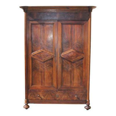 19th Century French Louis Philippe Walnut Period Chateau Armoire 1850s  .AS IS