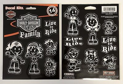 Harley-Davidson Family Decal Stickers NEW