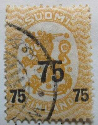 A8P3 Finland 1919 surch 75p on 20p used #211