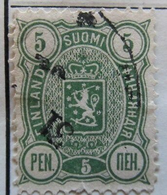A8P3 Finland 1889-95 5p Perf 12 1/2 used #196
