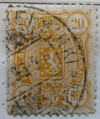A8P3 Finland 1889-95 20p Perf 12 1/2 used #197