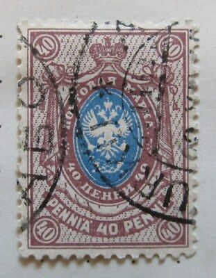 A8P3 Finland 1911-15 40p Perf 14 1/4x14 used #205