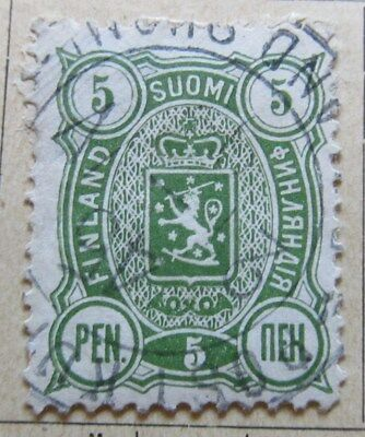 A8P3 Finland 1889-95 5p Perf 12 1/2 used #166