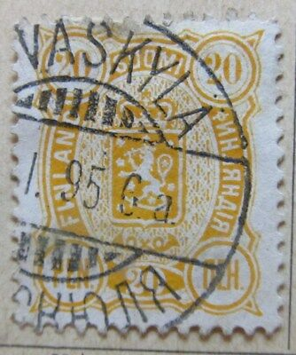 A8P3 Finland 1889-95 20p Perf 12 1/2 used #167