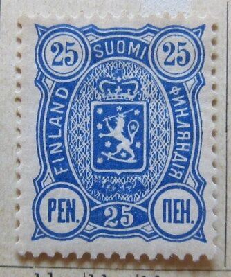 A8P3 Finland 1889-95 25p Perf 14x13 mh* #168