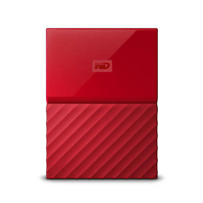 WD My Passport 2TB Red Portable Hard Drive by Western Digital 3 year limited ...