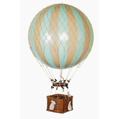 "XL Hot Air Balloon Model Mint Green 17"" Aviation Hanging Ceiling Home Decor New"