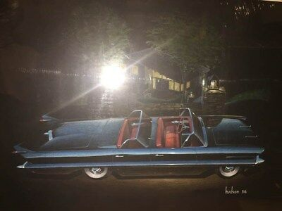 1956 Packard Convertible Automobile ORIGINAL Styling Art Painting Hudson md10