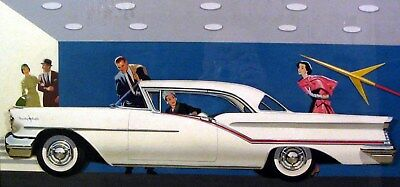 1957 Oldsmobile 98 Hardtop Automobile Detroit Advertising Art Painting md268