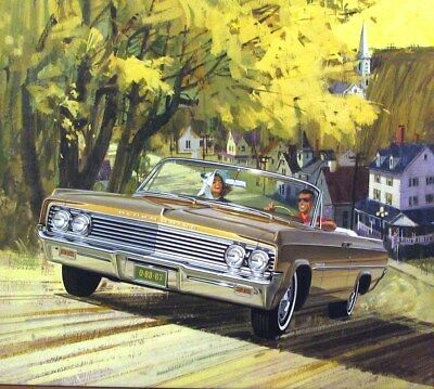 1963 Oldsmobile 88 Automobile ORIGINAL Detroit Advertising Art Painting md305