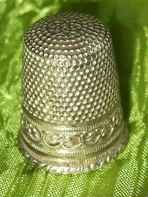 Alter Deutscher Fingerhut Thimble Versilbert Alpacca
