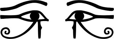 Ancient Egyptian Eye of Horus Ra Thoth talisman pair black vinyl decals stickers