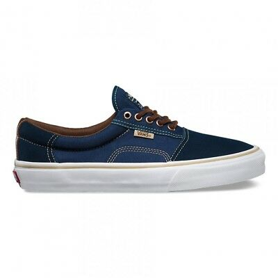 4ca27f531162c5 Vans Rowley Solos Dre Dress Blues Brown Men s 7.5 Navy Skate Shoes New NIB