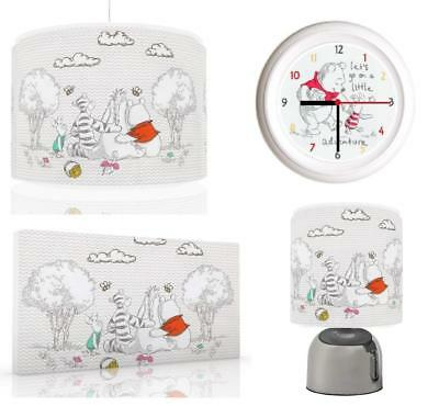 Winnie The Pooh Baby Bundle Light shade, Touch Lamp, Clock, Canvas FREEP&P
