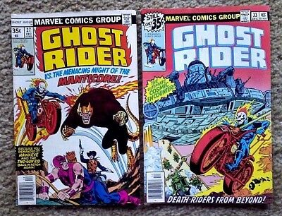 Ghost Rider - Lot Of 2 - #23 & 27 - High Grade - VF/NM - Bagged & Boarded
