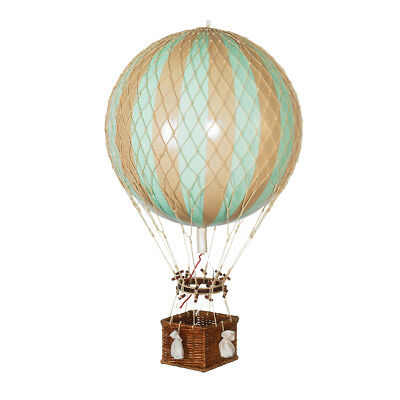 "Hot Air Balloon Model Mint Green 13"" Aviation Hanging Ceiling Home Decor New"