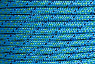 Polyester Double Braided Rope 12mm x 100m, Blue/Green Fleck
