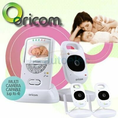 """ORICOM CAMERA THREE SECURE  2.4"""" COLOR VIDEO BABY MONITOR BABIES 710-3 3x NEW"""