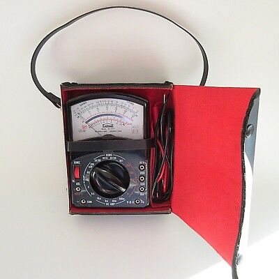 Vintage Calrad OHMS  DC AMP meter Model 65-277 in Case with Handle TESTED