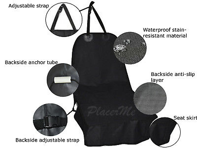 Waterproof pet dog front single bucket seat cover anti slip rubber layer anchor