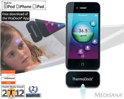 ThermoDock Infrared Thermometer for iPhone,iPod & iPad * RRP £69.99 by Medisana