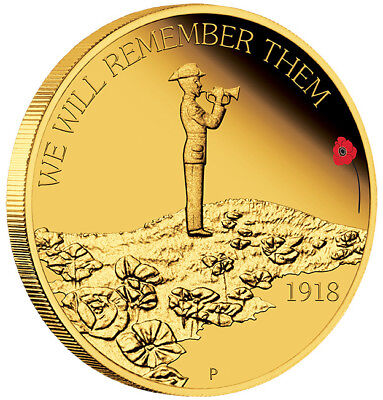 ANZAC SPIRIT 100th ANNIVERSARY – WE WILL REMEMBER THEM 2018 1/4oz GOLD COIN