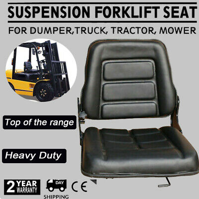 Forklift Seat Multi Adjust Leather Seat - FOR Bobcat Tractor Excavator Machinery