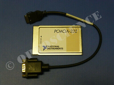 National Instruments PCMCIA-232 Interface Card with Cable, RS232