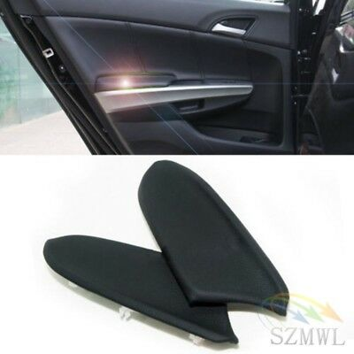 2 Pcs Leather Front Door Panels Armrest Covers For Honda Accord 08-12  Black