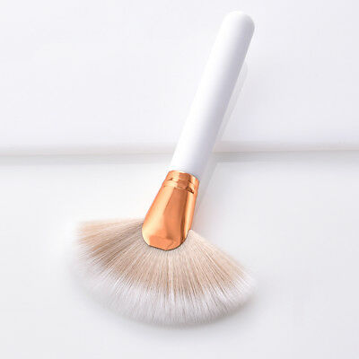 Fan Shape Makeup Cosmetic Brush For Highlighter Contour Face Powder Brushes NEW