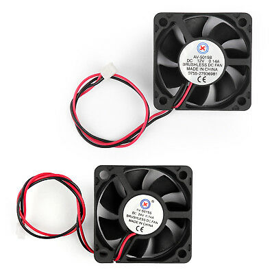 DC Brushless Cooling PC Computer Fan 5V 12V 24V 5015s 5015B 50x50x15mm 2 Pin AU