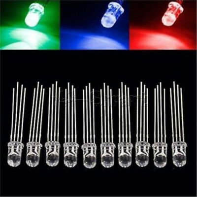 20/50/100PCS 5mm 4pin RGB Diffused Tri-Color Common Anode LED Red Green Blue New
