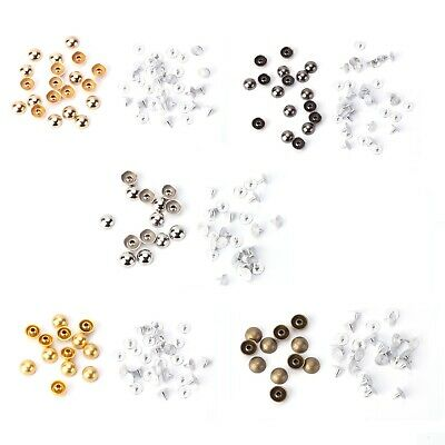 100pcs Mushroom Round Domed Punk Studs Rivets for Clothes Shoes Belts Bags Decor