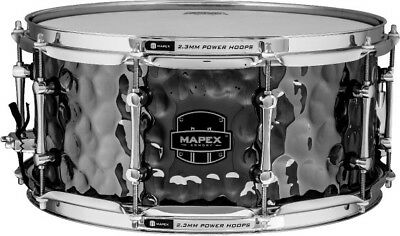 "Mapex Armory Daisycutter 14x6.5"" Hammered Steel Snare Drum"