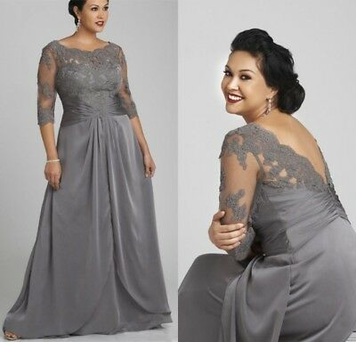 Plus Size Mother Of The Bride Dresses Wedding Formal Gowns 3 4
