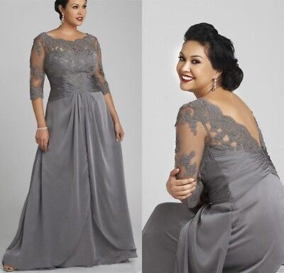 PLUS SIZE MOTHER Of The Bride Dresses Wedding Formal Gowns 3 ...
