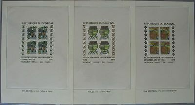 s713) Senegal Block 34 - 36 One hundred water No 05741 small Format - rare