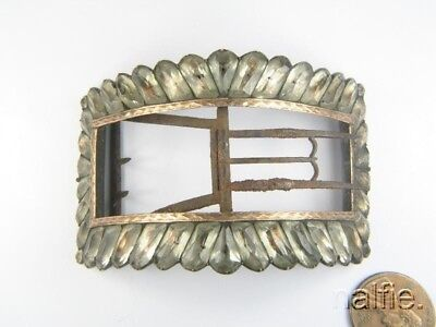ANTIQUE ENGLISH GEORGIAN PERIOD FOILED PASTE SHOE BUCKLE c1780