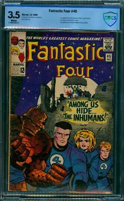 Fantastic Four # 45  1st appearance of the Inhumans !  CBCS 3.5 scarce book !