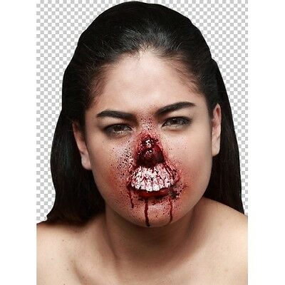 Prosthetic Wounds Chewed Nose Halloween Fancy Dress