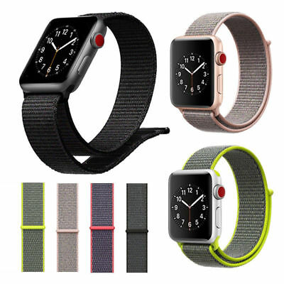 Für Apple Watch Nylongewebte Band Nylon Sport Loop Armband Serie 3 2 1 38/42mm