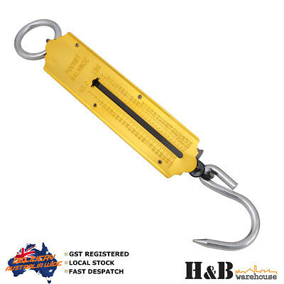 1 X 100Kg Steel Spring Balance Weighing hanging Scale Pocket Scales