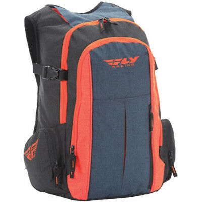 Fly Back Country MX Motocross Offroad Riding Pack-Heather Blue/Orange