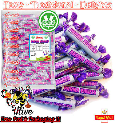 50 Swizzels Parma Violets Candy Sweets Retro Kids Traditional Sweets New Party