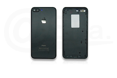 BLACK - Metal Chassis Rear Replacement Housing Back Cover for iPhone 7 PLUS UK