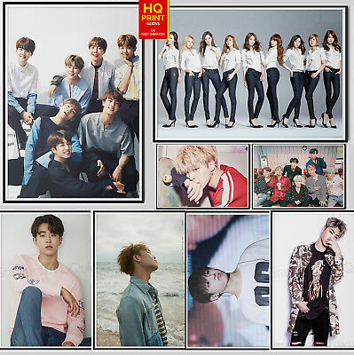 Kpop Korean BTS ICON Exo Band Group Music Poster Large Print | A2 A3 A4 A5
