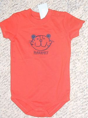 "NWT- Gymboree ""The Daisy & the Tiger"" short sleeved orange shirt - 3-6 mos"