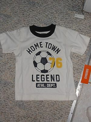 "NWT - Gymboree ""Everyday Favorites"" short sleeved white soccer shirt - 12-18 mos"