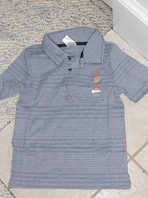 "NWT - Gymboree ""Picture Day"" short sleeved blue/grey polo shirt - 6-12 mos boys"