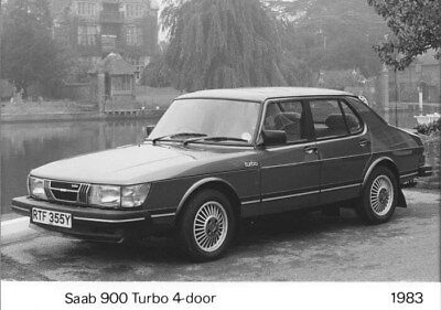 1983 Saab 900 Turbo Four Door ORIGINAL Factory Photo oua2474